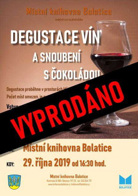 Degustace vín asnoubení sčokoládou 2