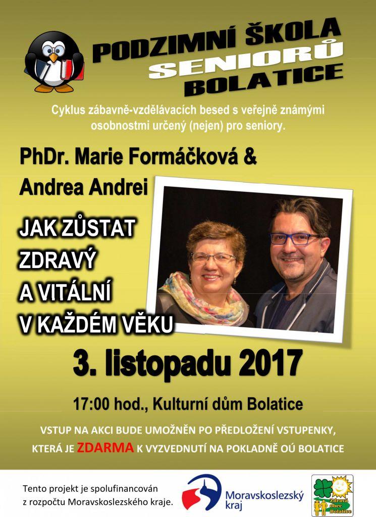 PhDr. Marie Formáčková & Andrea Andrei - Jak zůstat zdravý a vitální v každém věku 1
