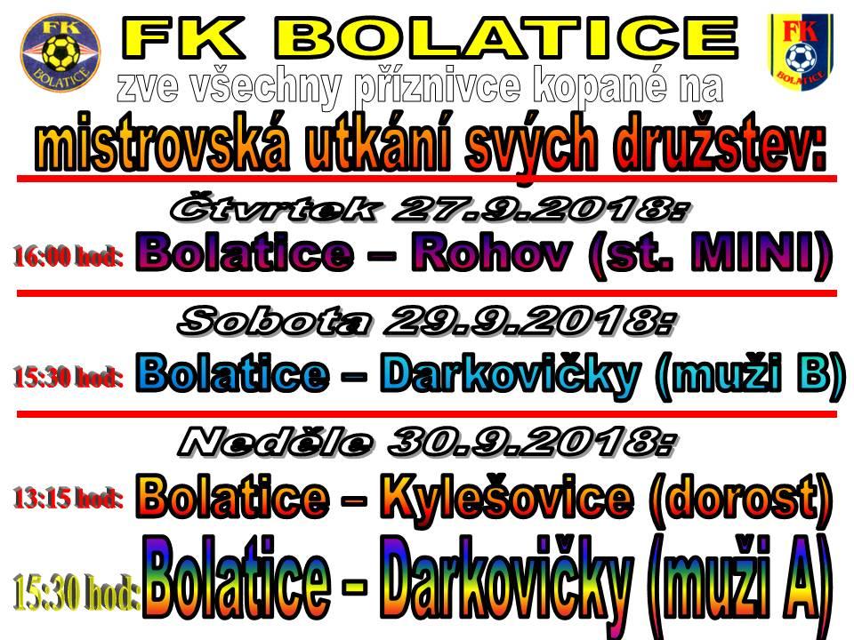 Mistrovská utkání FK Bolatice 1