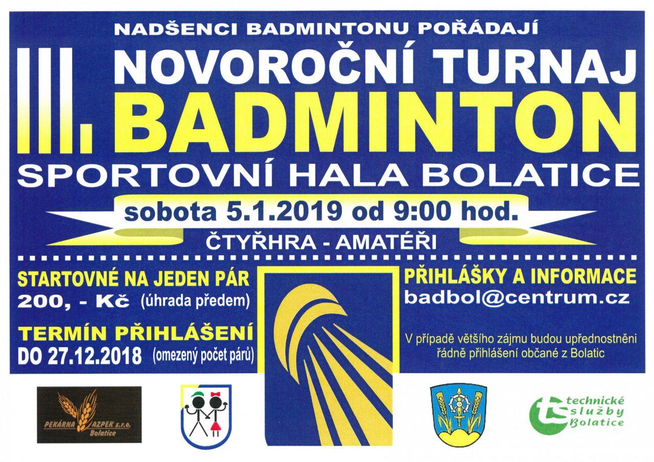 III. Novoroční turnaj v badmintonu 1
